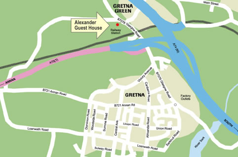 Location map for Alexander Guest House